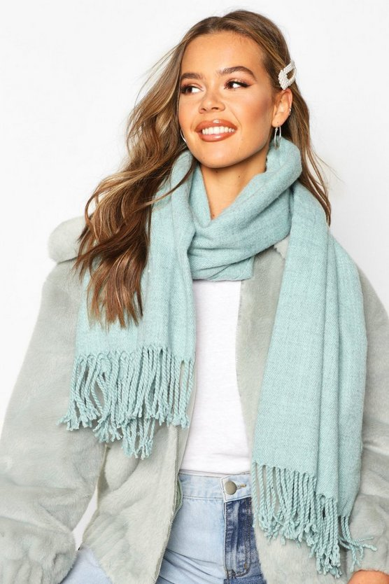 Brushed Oversized Fringe Scarf
