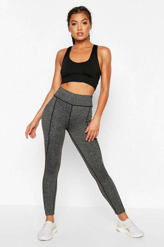 Fit High Waist Pocket Detail Gym Leggings