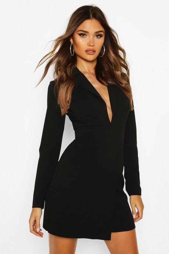 Scuba Crepe Blazer Dress