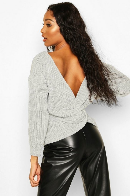Twist Knot Back Jumper