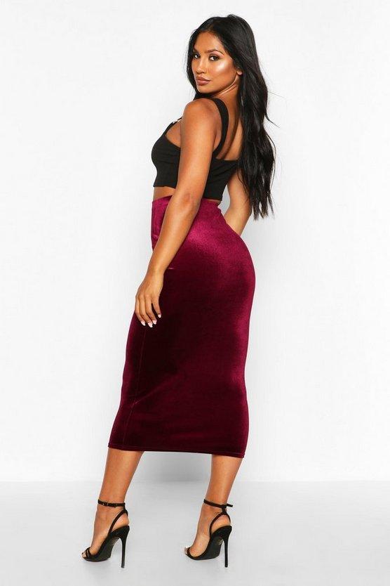 Velvet Midaxi Skirt