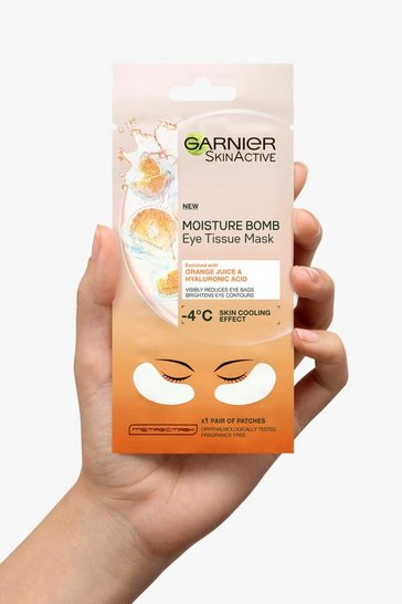Womens White Garnier Hyaluronic Acid & Orange Eye Mask