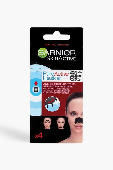 Womens Black Garnier Pure Active Anti-Blackhead Nose Strips