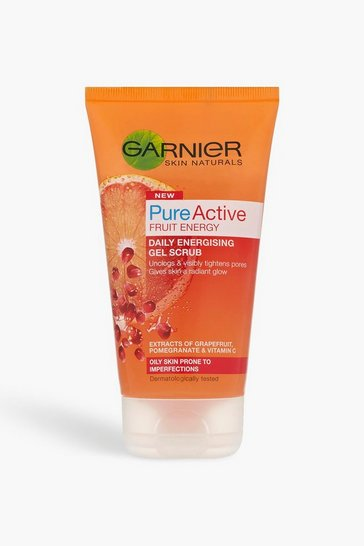 Womens Clear Garnier Pure Active Gel Scrub 150ml