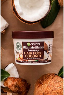 Mascarilla capilar de coco Ultimate Blends Hair Food Mask de Garnier 390 ml, Blanco