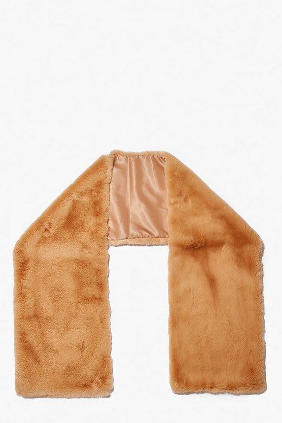 Faux Fur Oversized Scarf