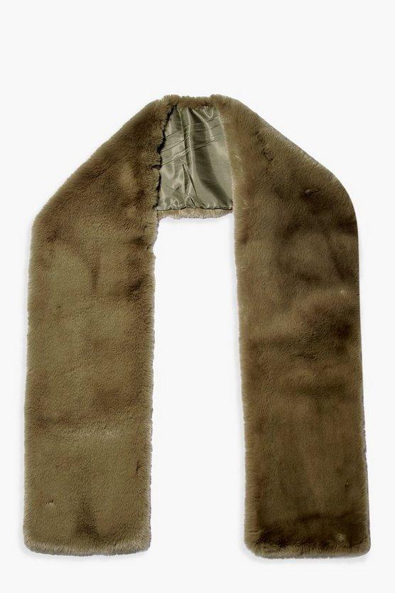 Faux Fur Long Scarf