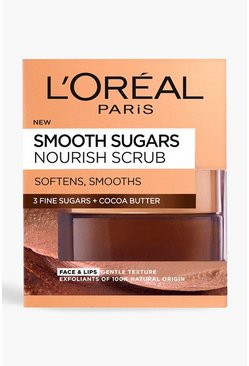 Exfoliación facial Sugar Coffee de L'Oreal Paris 50 ml, Marrón