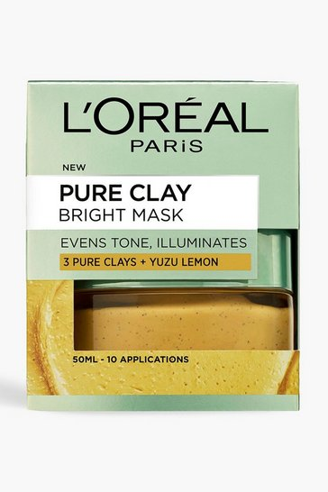 Womens Yellow L'Oreal Paris Pure Clay Face Mask 50ml