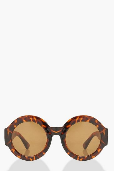 Womens Brown Oversized Tortoise Shell Sunglasses