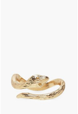 Womens Gold Snake Wrap Around Ring