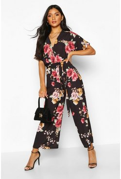 Dam Black Floral Jumpsuit