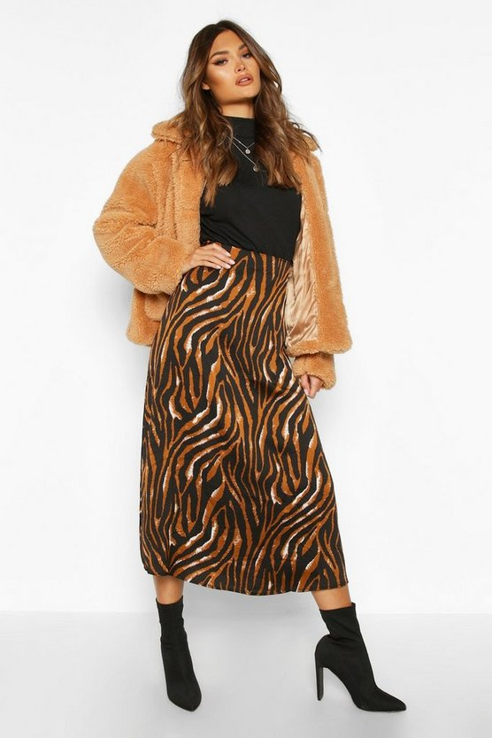 Tiger Full Woven Midi Skirt