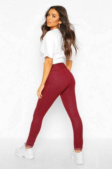Berry Basic Jegging With Pocket Back And Turn Up