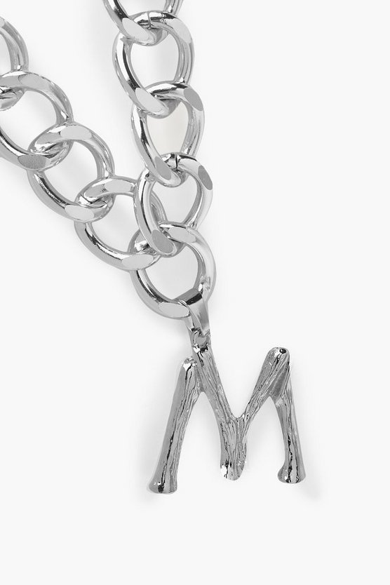 Chain Detail Initial Necklace (M)