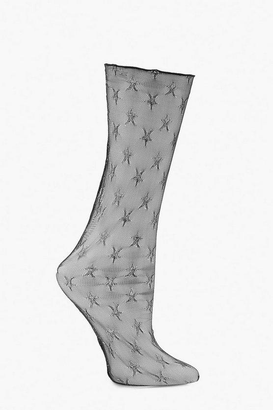Halloween Glitter Star Sock