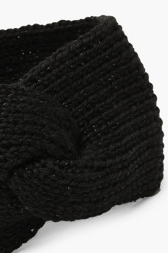 Knitted Twist Front Head Band