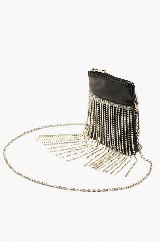 Premium Diamante Fringe Cross Body Bag