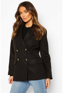 Black Wool Look Blazer