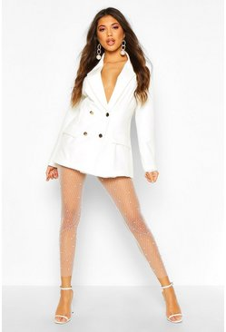 Dam White Pearl Mesh Leggings