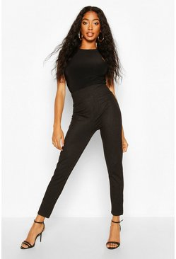 Black Contour Waist Pocket Back Jeggings