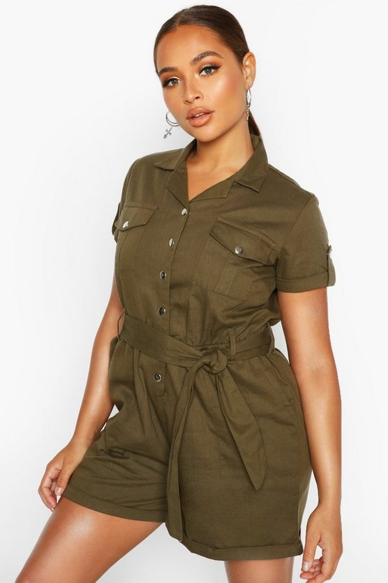 Utility Pocket Woven Playsuit