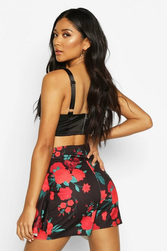 Floral Double Layered Skort