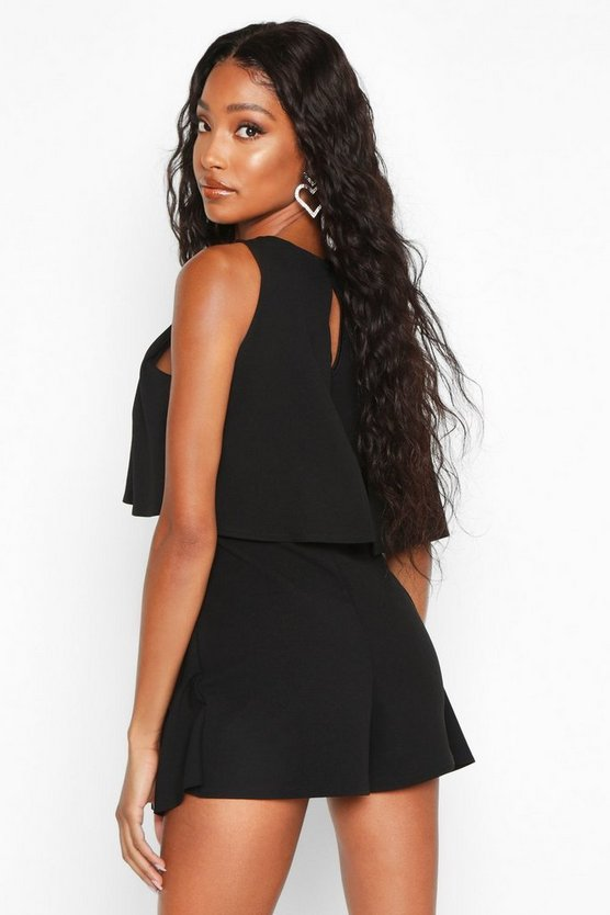 Double Layer Playsuit Dress