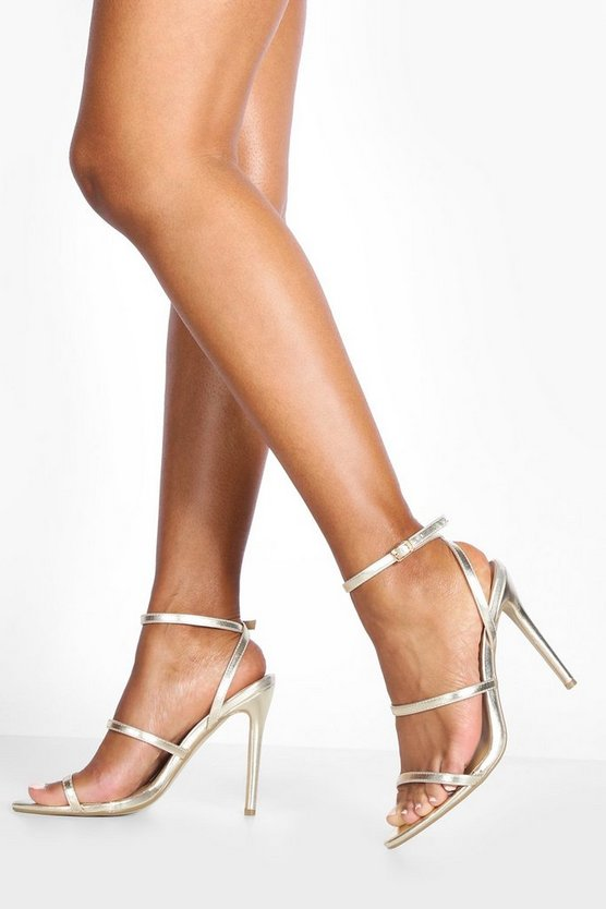 Triple Band Pointed Toe Stiletto Heels