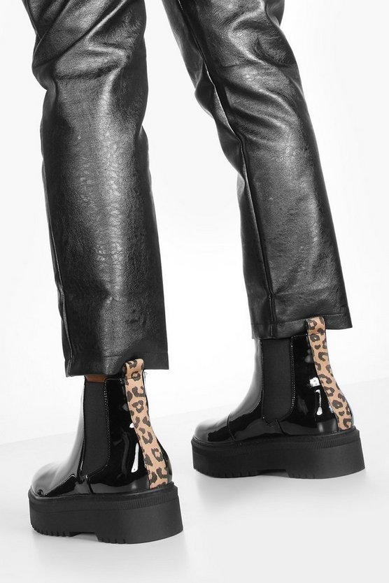 Cleated Sole Chunky Chelsea Boots
