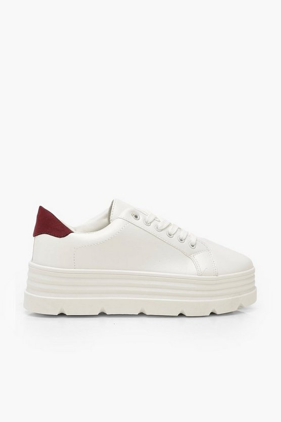 Cleated Sole Platform Trainers
