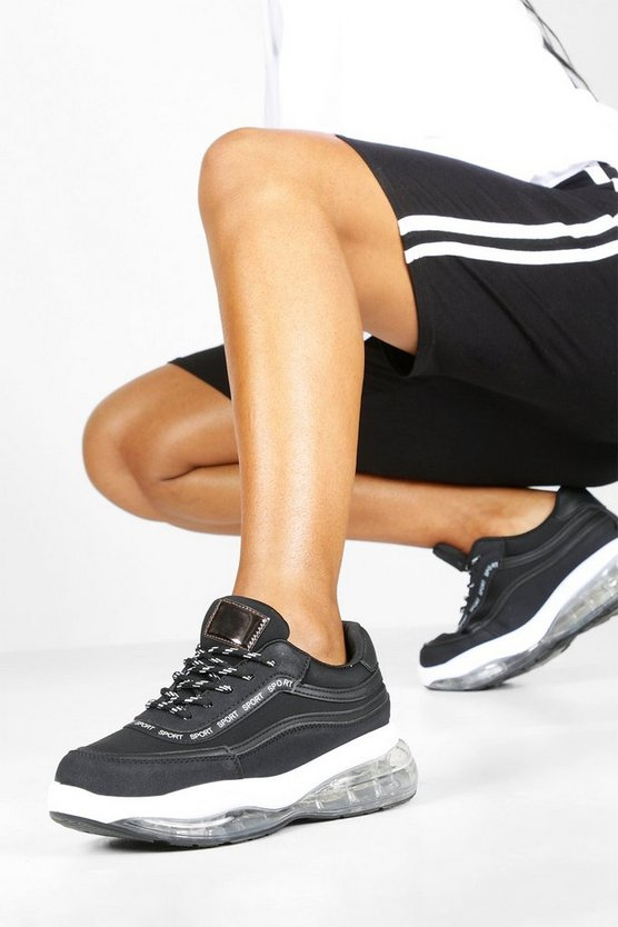 Bubble Sole Lace Up Chunky Trainers