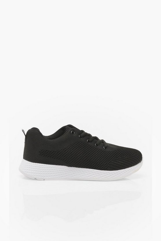 Basic Knitted Sports Trainers