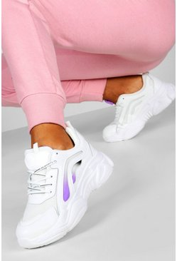 Purple Colour Pop Chunky Sole Trainers