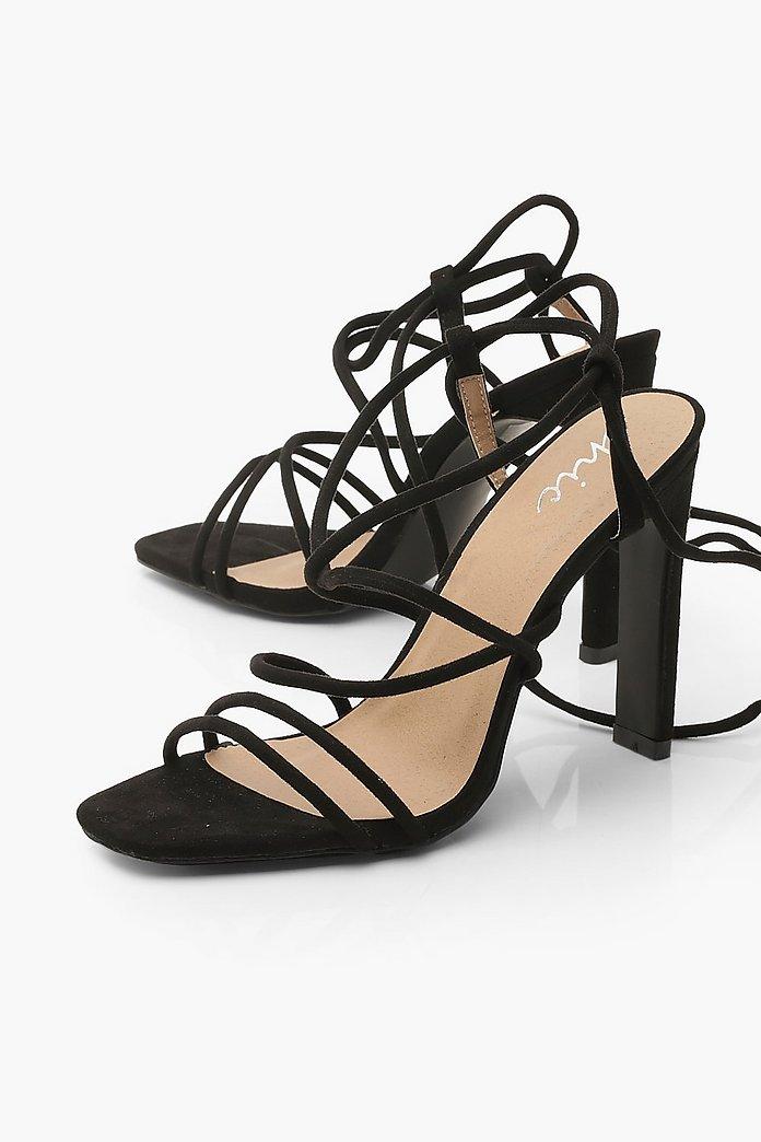 Strappy Tie Flat Heel Sandals | boohoo Australia