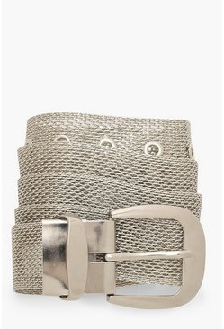Dam Silver Chainmail Buckle Belt