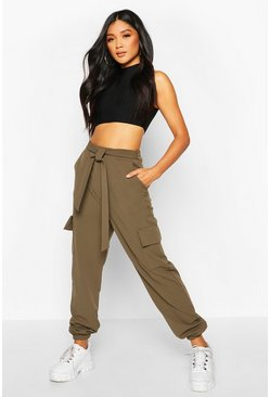 Khaki Pocket Cargo Trousers