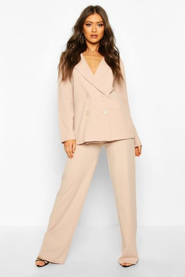 Womens Stone Wide Leg Trouser