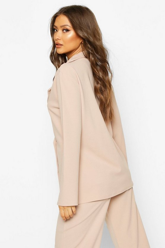 Button Detail Oversized Duster