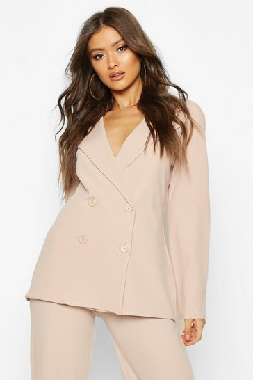 Womens Stone Button Detail Oversized Duster