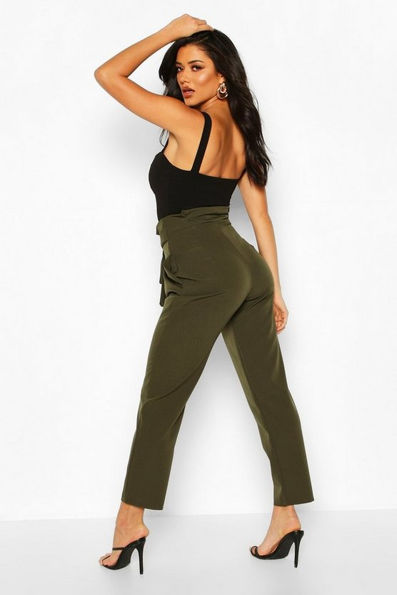 Paper Bag Tailored Trouser