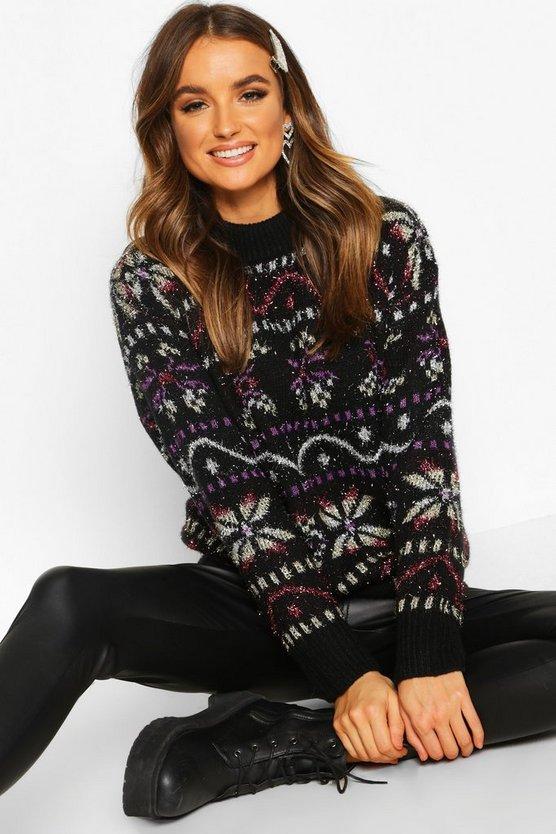 Metallic Christmas Knit