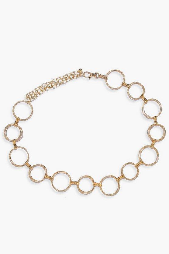 Double Diamante Ring Chain Belt