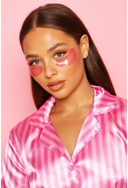 Womens Pink Boohoo Anti-Aging Gel Eye Patches