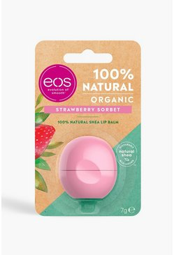 Womens Pink EOS Organic Strawberry Sorbet Lip Balm