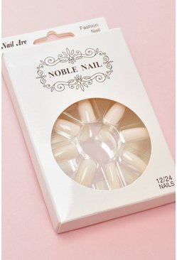 Womens Nude False Nails Kit