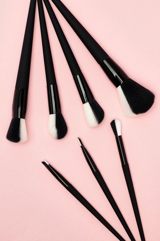 Luxury Matte Black Makeup Brush Set