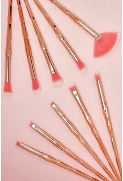 Womens 10 Piece Diamond Brush Set - Bronze