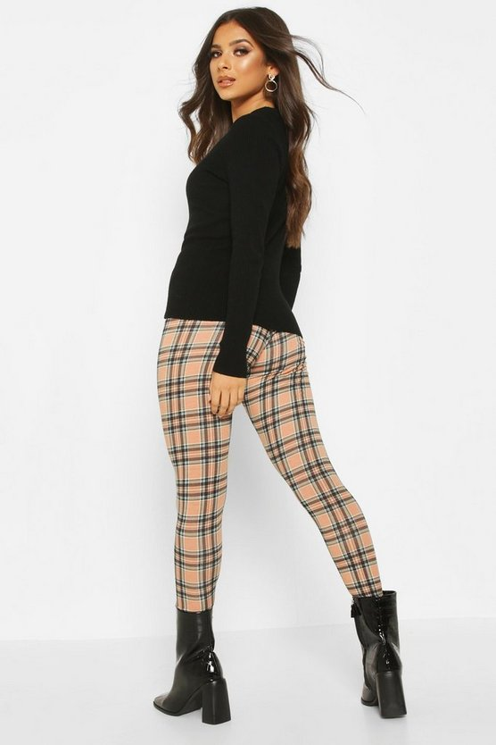 Tartan Check Basic Jersey Leggings