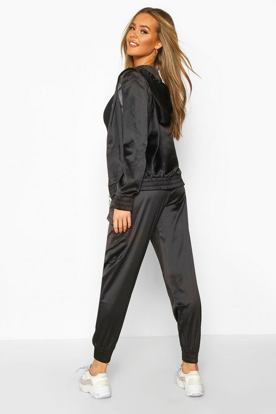 Satin Zip Through and Jogger Set